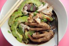 Лапша цыпленка с тыквой Стоковое Фото