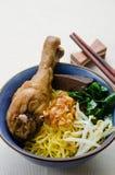 Лапша яичка с потушенным цыпленком Стоковое Изображение