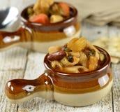 Лапша Minestrone и Vegetable суп Стоковые Фото