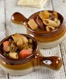 Лапша Minestrone и Vegetable суп Стоковая Фотография RF