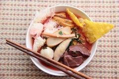 Лапши риса в пинке Стоковое Изображение RF