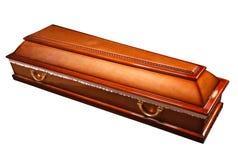 Ларец гроба с латунными ручками Стоковая Фотография