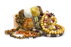 Ларец глины с jewellery Стоковое Изображение