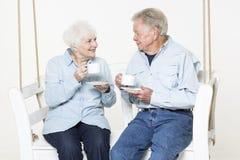 Ласковые старшие пары Стоковое фото RF