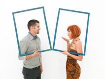 Ласковый момент между человеком и женщиной Стоковое Фото