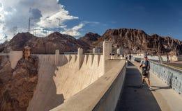 Лас-Вегас, запруда Hoover, Невада, США: [Запруда Hoover и озеро Meeads на Колорадо в пустыне Невады стоковые фото
