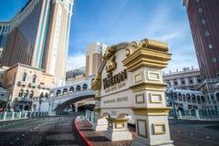 ЛАС-ВЕГАС, НЕВАДА - НОЯБРЬ 2017: Взгляд венецианской гостиницы r стоковые изображения