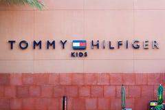 ЛАС-ВЕГАС, НЕВАДА - 22-ое августа 2016: Tommy Hilfiger ягнится логотип Стоковые Фото