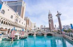Лас-Вегас, Невада, США 5-29-17: Венецианские курортный отель & казино Стоковые Фотографии RF