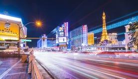 Лас-Вегас, Невада, США 5-28-17: горизонт Лас-Вегас на ноче Стоковые Изображения
