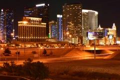 Лас-Вегас, Невада, США - 26-ое мая 2014: Лас-Вегас Nightview от крыши стоковое фото rf