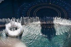 Лас-Вегас, Невада - США - 05,2017 -го июнь - выставка воды фонтана, Ла Стоковые Фотографии RF