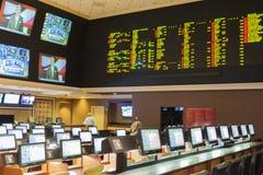 Лас-Вегас - Невада, США, 30-ое сентября: Спорт держа пари на luxu Стоковое Изображение