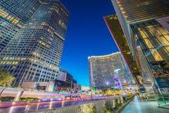 Лас-Вегас - 12-ое декабря 2013: Известные казино Лас-Вегас на Decem Стоковое Изображение