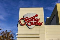 Лас-Вегас - около декабрь 2016: Положение мола гитары разбивочное Центр гитары самая большая цепь музыкальных розничных торговцев Стоковое Фото