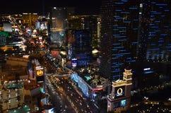 Лас-Вегас, район метрополитена, метрополия, ноча, небоскреб стоковое изображение