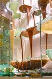 Лас-Вегас, Соединенные Штаты Америки - 5-ое мая 2016: Фонтан шоколада на роскошной гостинице Bellagio стоковые изображения rf
