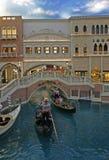 Лас-Вегас, США - Desember 03, 2009: Казино венецианское Венецианские гостиница и реплика большого канала в Лас-Вегас стоковые фотографии rf