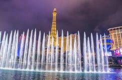 Лас-Вегас, фонтаны Стоковое Изображение RF