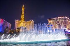Лас-Вегас, фонтаны Стоковое Изображение