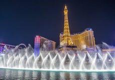 Лас-Вегас, фонтаны Стоковые Фотографии RF