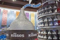 ЛАС-ВЕГАС, NV - дисплей поцелуя Hershey Стоковые Изображения