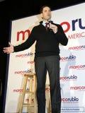 ЛАС-ВЕГАС, NV - 14-ОЕ ДЕКАБРЯ: Республиканский сенатор Marco Rubio Флориды кандидата в президенты говорит во время ралли кампании Стоковые Изображения RF
