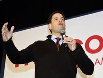 ЛАС-ВЕГАС, NV - 14-ОЕ ДЕКАБРЯ: Республиканский сенатор Marco Rubio Флориды кандидата в президенты говорит во время ралли кампании Стоковое Фото