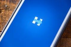 ЛАС-ВЕГАС, NV - 22-ое сентября 2016 - Хиллари Клинтон App на Appl Стоковые Изображения