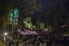 Латвия празднует день Lacplesa 11 ноябрь Стоковое Изображение