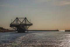 Латвия Liepaja Мост выключения стоковая фотография