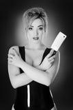 Латекс женщины нося Стоковая Фотография RF