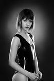 Латекс женщины нося Стоковая Фотография