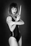 Латекс женщины нося Стоковое фото RF