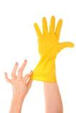 латекс перчатки Стоковые Фото