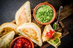 Латино-американская еда, empanadas стоковое изображение