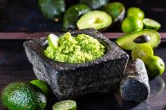 Латино-американские мексиканские гуакамоле и ингридиенты соуса авокадоа Стоковая Фотография