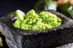 Латино-американские мексиканские гуакамоле и ингридиенты соуса авокадоа Стоковая Фотография RF