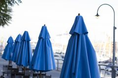 Латинская Америка Южная Америка Буэноса-Айрес Аргентины madero Puerto зонтиков ресторана славная Стоковое фото RF