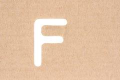 Латинская прописная буква f, восковка стоковое фото