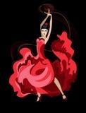 Латинская танцулька Стоковая Фотография