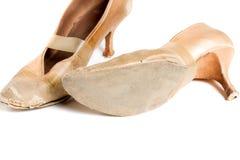 Латинские ботинки танца бального зала Стоковые Изображения RF