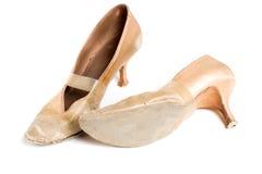 Латинские ботинки танца бального зала Стоковое Фото