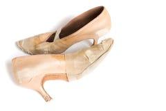 Латинские ботинки танца бального зала Стоковые Фото