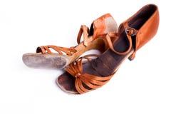 Латинские ботинки танца бального зала Стоковое Изображение RF
