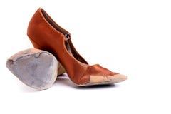 Латинские ботинки танца бального зала Стоковые Изображения