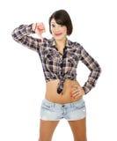 Латинский жест unsuccess девушки стоковое фото rf