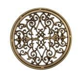 латунная богато украшенный стойка стоковая фотография