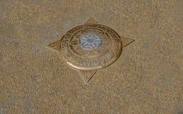 Латунная металлическая пластинка в мостоваой чествуя Диане, принцессе Wa Стоковые Фотографии RF