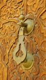 латунная рука сжатия Стоковая Фотография